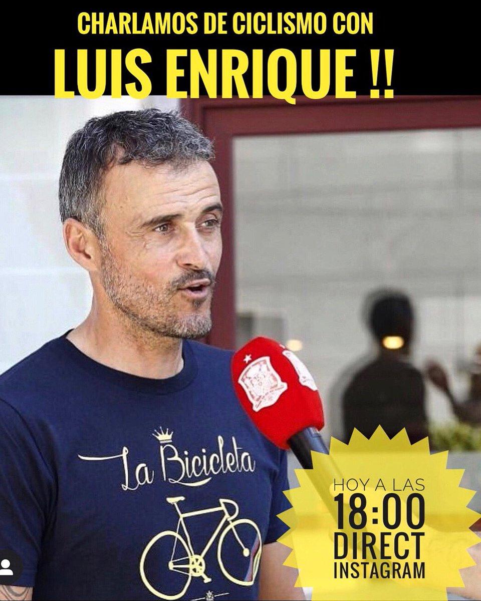 Nos hace muchísima ilusión invitaros a la charla que tendremos a las 18:00 por directo de Instagram con Luis Enrique @LUISENRIQUE21 actual seleccionador nacional de fútbol, pero sobretodo apasionado de la bicicleta y gran amigo de la familia de @BicicletaLa !! #CharlasLBC