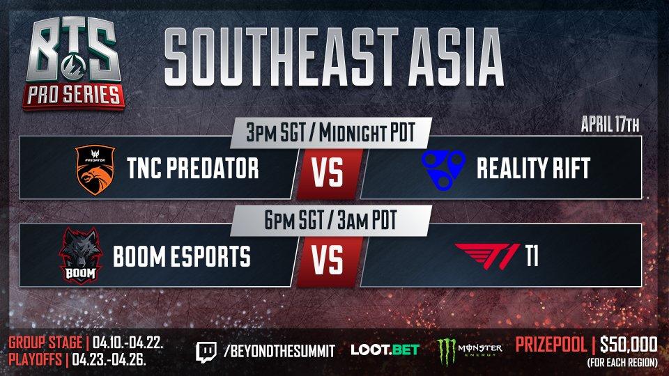 BTS Pro Series Regional SEA