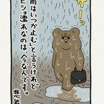 止まない雨はないというけれど…。悲熊のつぶやきが深いと話題に!