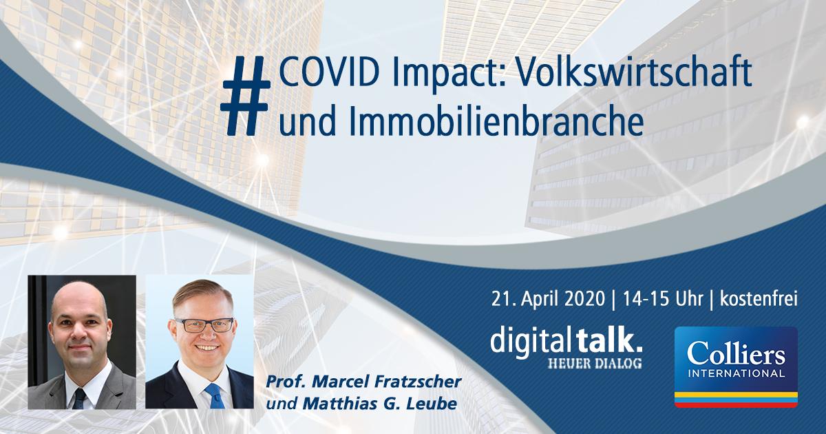 """RT @Heuer_Dialog: Nicht vergessen! Unser #digitaltalk """"#COVID Impact: Volkswirtschaft und #Immobilienbranche"""" findet am Dienstag von 14-15 Uhr statt. V, U oder L: Welche Entwicklung wird die #Wirtschaft nehmen? Marcel Fratzscher und Matthias Leube liefern Antworten. t.co/dC9MQqMUCC"""