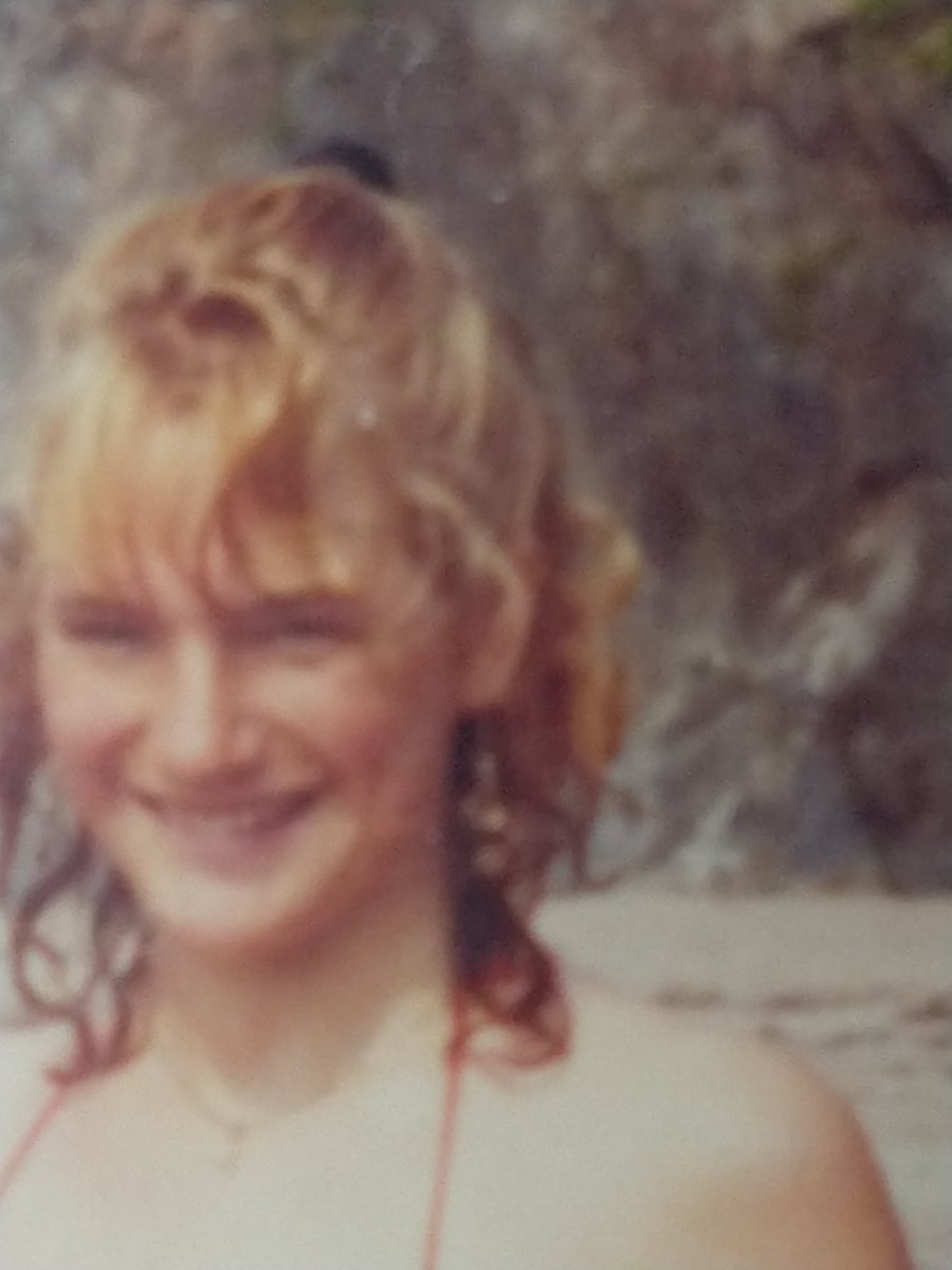#MeAt20 on a beach somewhere in Cornwall. Seems like yesterday!