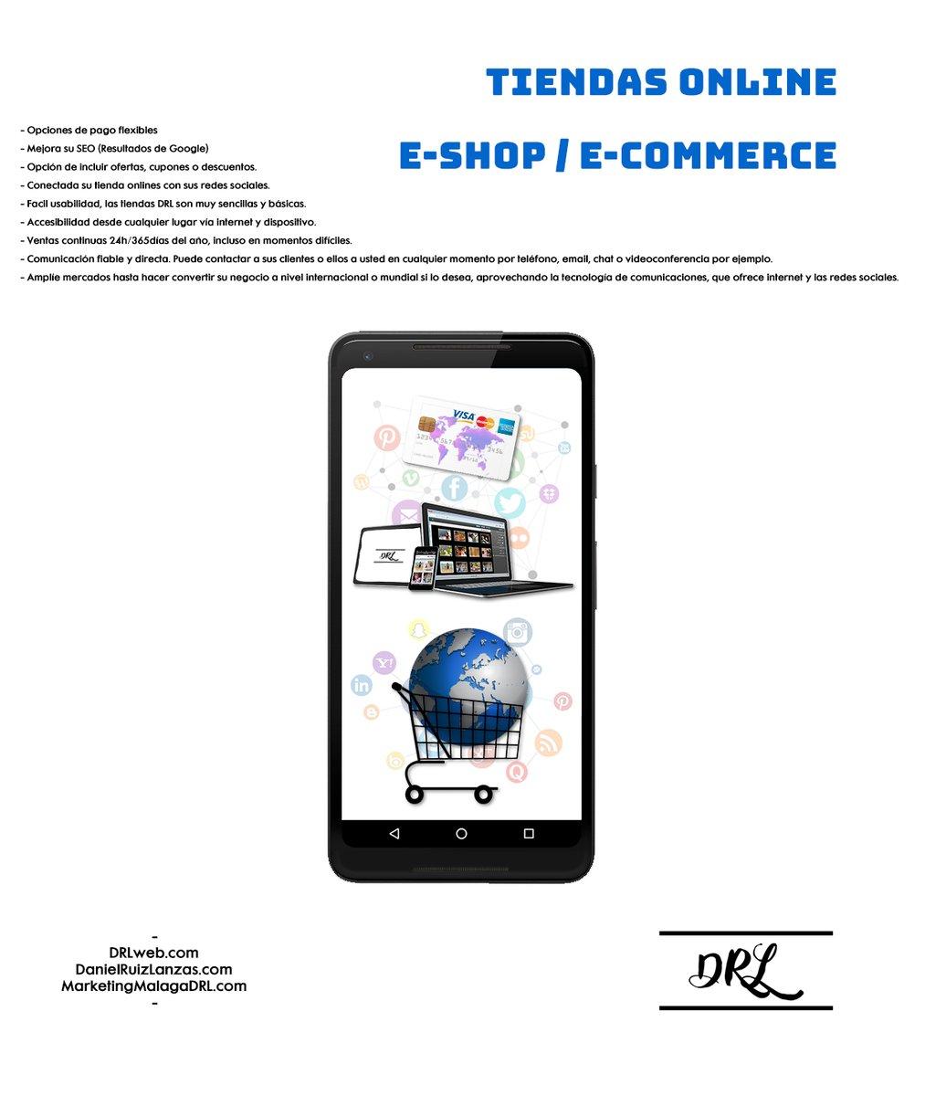 #TiendasOnline #EShop #Ecommerce #DRL #DRLweb #MarketingMalagaDRL #DanielRuizLanzas #Evolucionesunegocio https://t.co/NrD19pbNcV