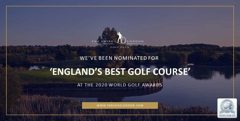 We are ecstatic to announce that #TheShireLondon has been nominated for 'England's Best Golf Course' at the 2020 World Golf Awards.   If you agree, please vote today - https://t.co/uKfd8qUYPE  We appreciate each and every vote! 🏆 #WGA2020 https://t.co/tIjmO7xJwR