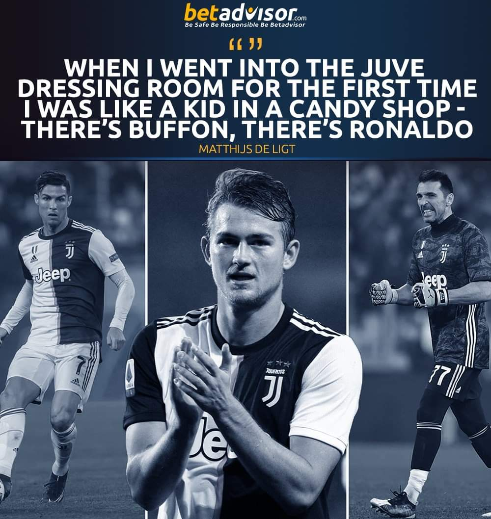 Matthijs de Ligt on the first time he walked into the Juventus dressing room 😀  . . . . . #betadvisor #football #soccer #sports #tips #juventus #buffon #cristiano #ronaldo #deligt #serieA #italy https://t.co/XDQv070I1H