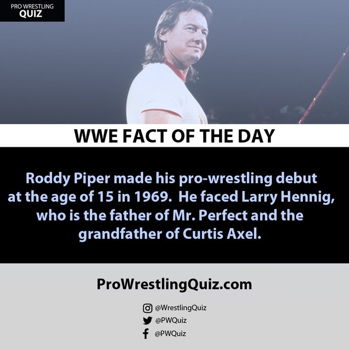 Happy Birthday to Roddy Piper, who would have turned 66 years old today.