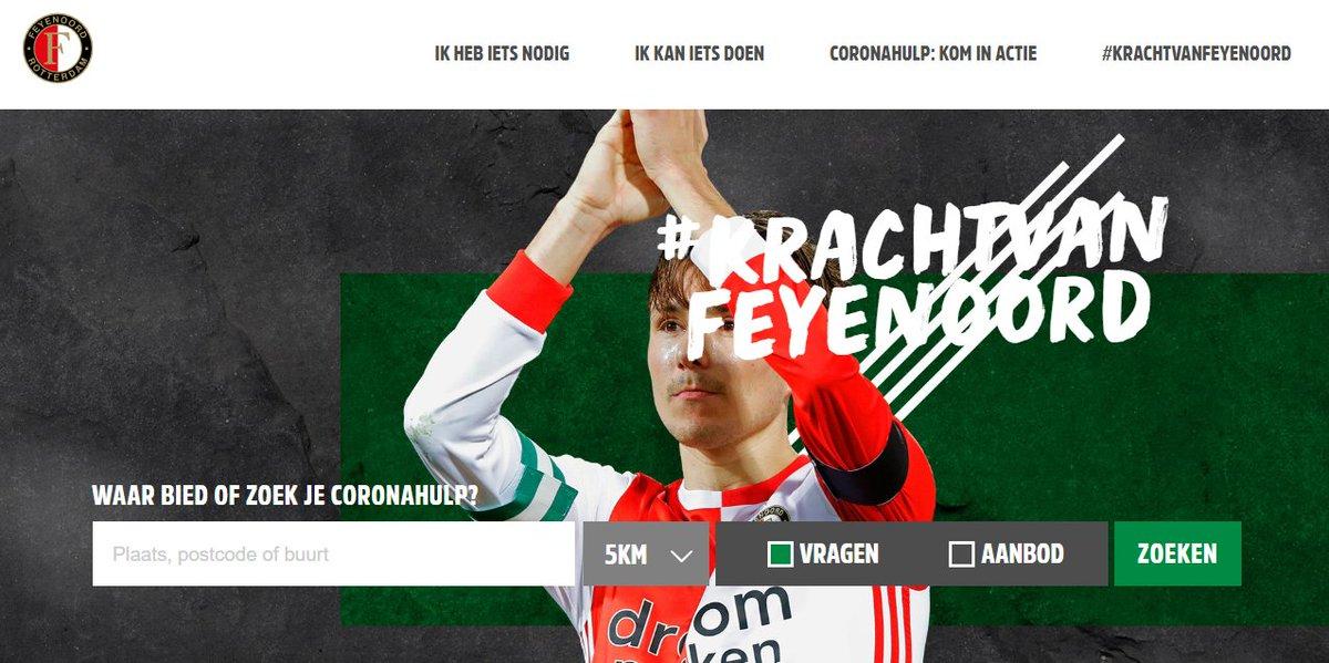 Ook @Feyenoord sluit zich aan! In moeilijke tijden is het belangrijk om elkaar kracht te geven. Op dit platform bundelen we onze krachten: https://t.co/Gm6LeAxp8M   #KrachtvanFeyenoord #daslief #coronahulp #samensterk #samentegencorona #nlvoorelkaar https://t.co/hssPwNOyKm