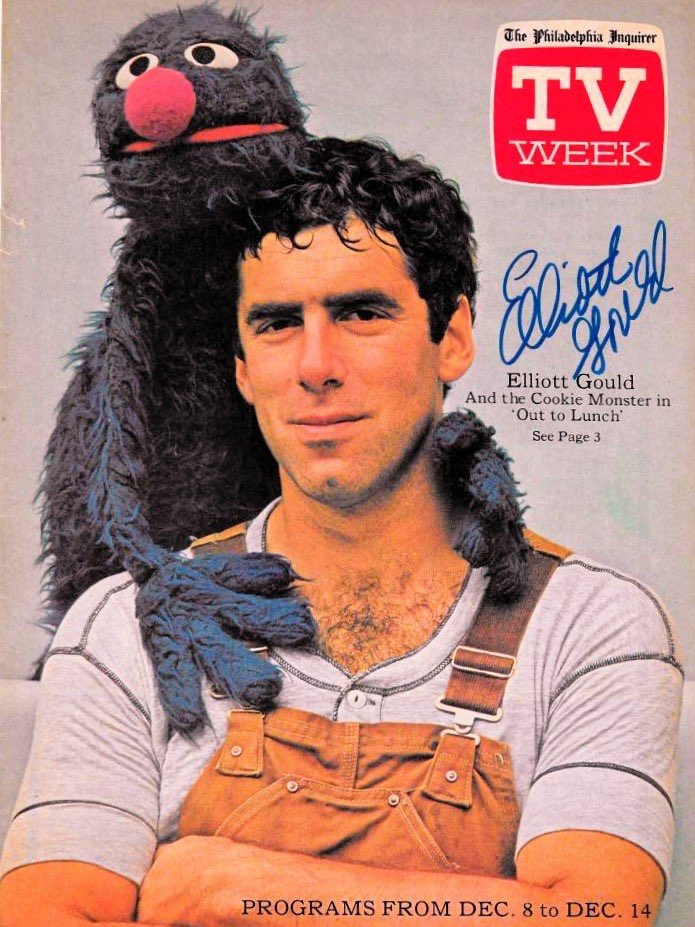 Editor: You get those photos of Elliott Gould and Grover? Photographer: Sure did boss, real fuckin sexy just like you asked. Editor: what https://t.co/WbXJavjufu