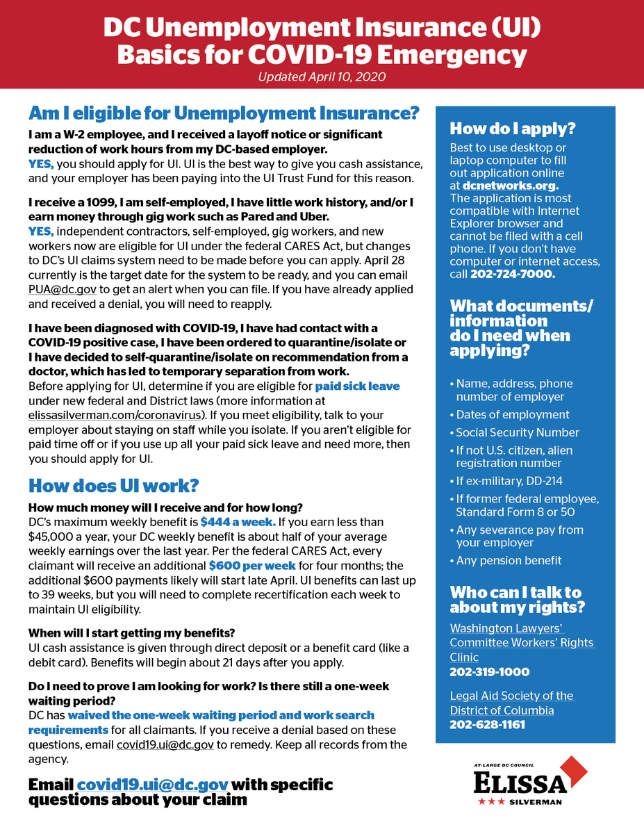Council Of Dc On Twitter Unemployment Insurance Here S The