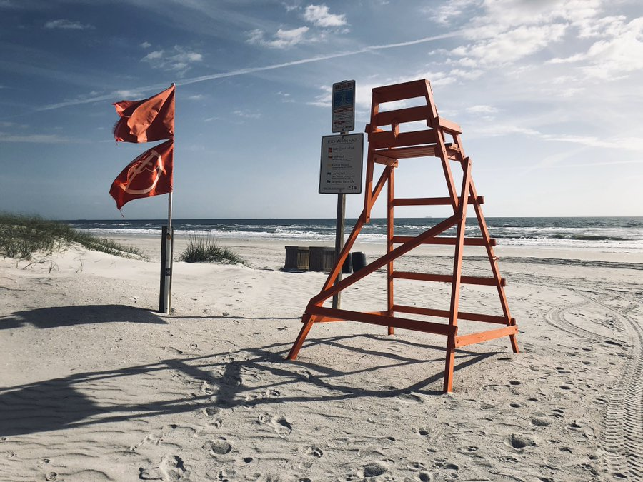 Reminder for no coolers chairs or sunbathing while beaches are open. Exercise only.