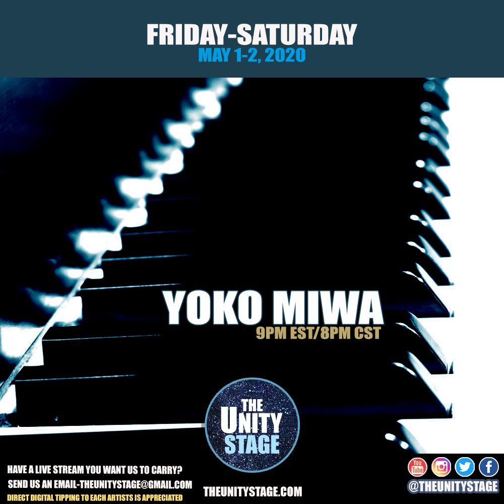 Live music from @yokomiwa  on Facebook. Then later catch her on Instagram  https://t.co/tiYinSTDrR  #StayHomeBands #LiveJazzGoesOn #Tonight https://t.co/oeZBOYfXsM https://t.co/jKFQQnwT66