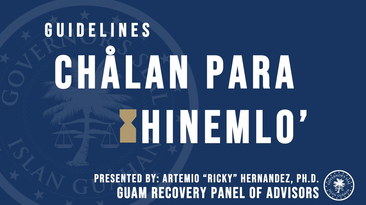 Here's what you need to know about the governor's Chalan Para Hinemlo recovery plan (1 of 4)