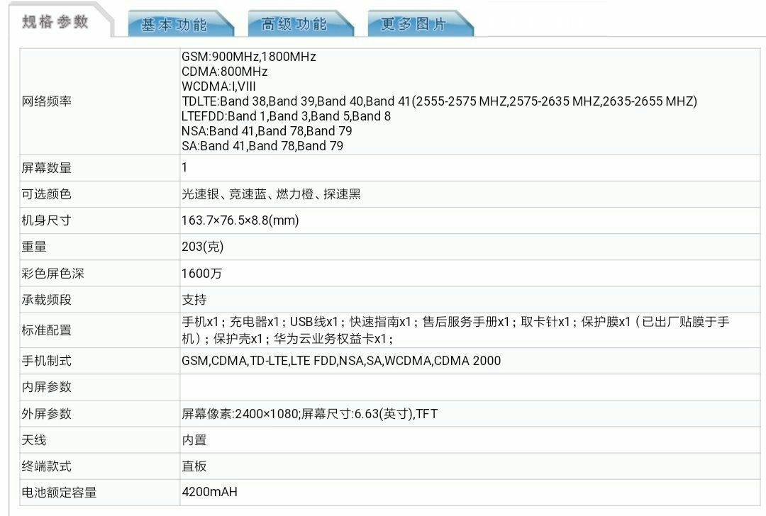 Honor X10 will come with 40MP (Sony IMX600 Lens) and 4200 mAh Battery listed on TENNA Certification