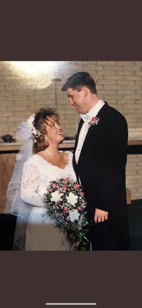 Couple minutes late, But happy 25th anniversary to these 2. Would be lost without you guys. Thanks for all you do. Love both of you. Hope to be half the person each of you are! https://t.co/ljQijUg9QH