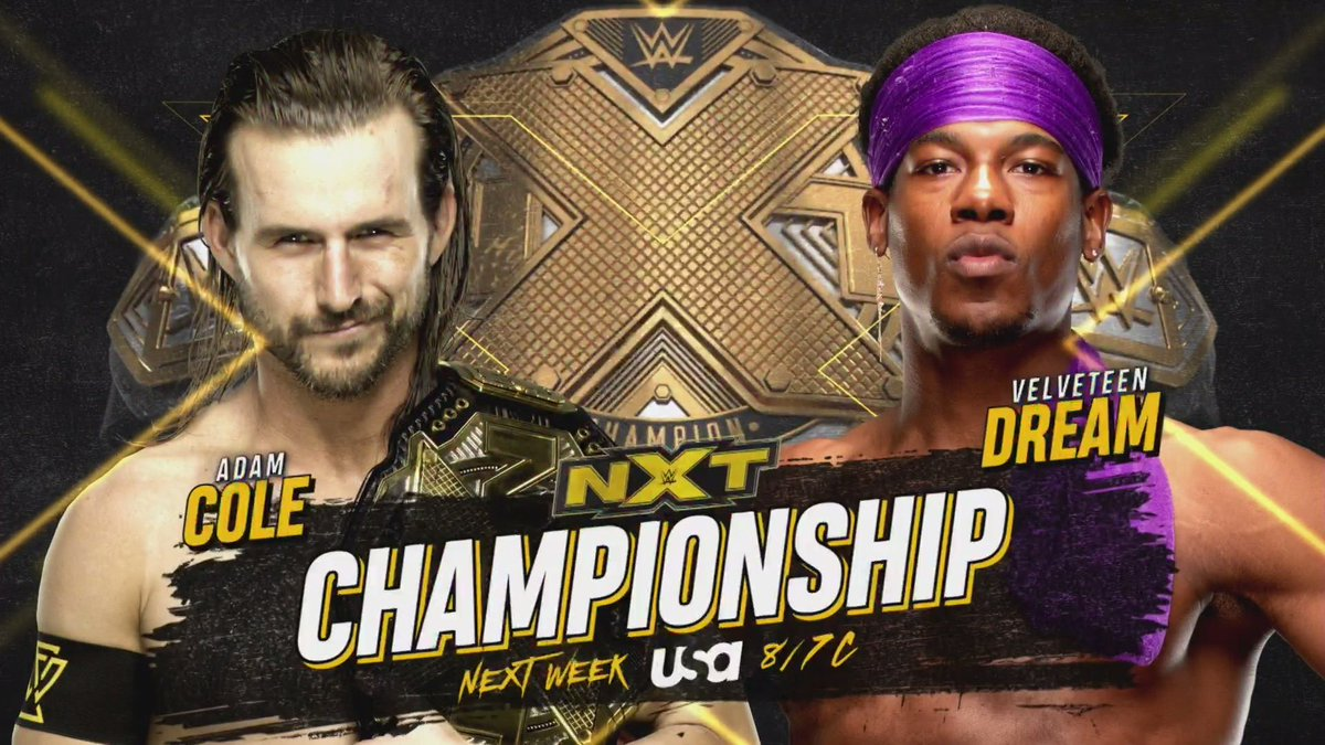 NXT Title Match Announced For Next Week