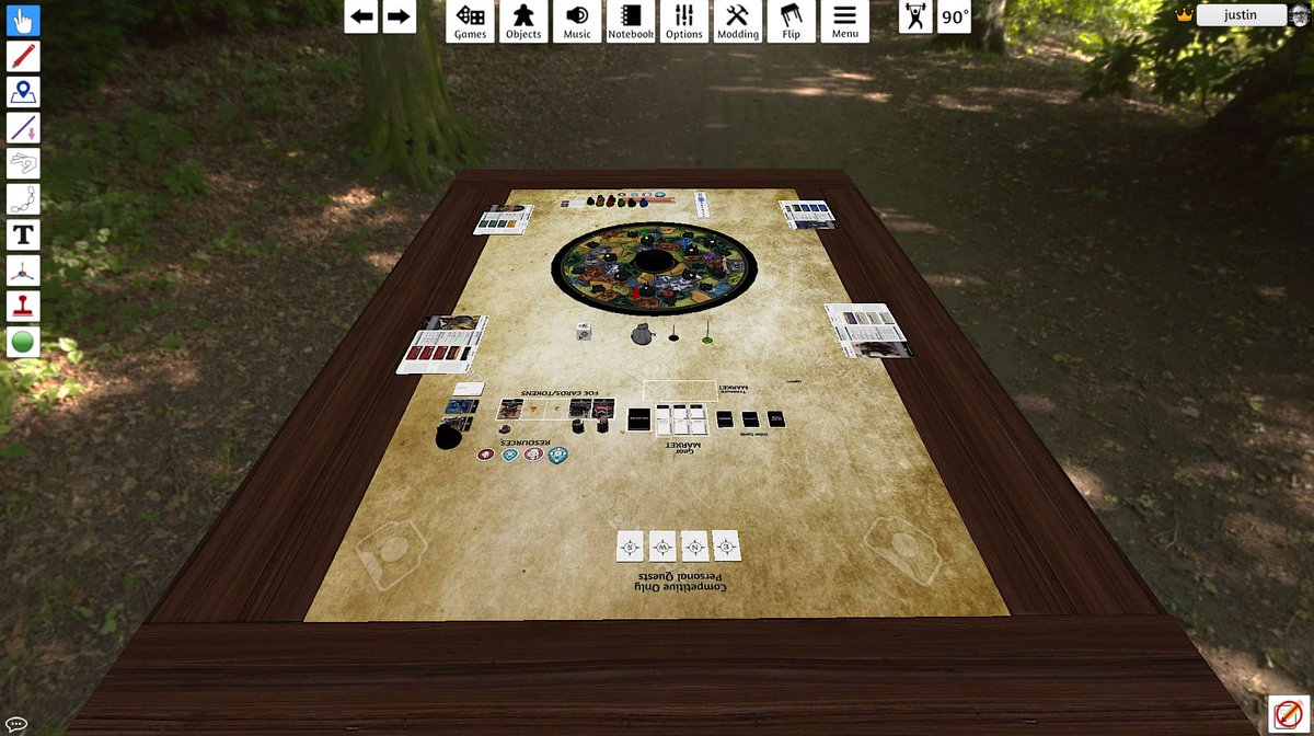 Playtesting solo mode for Return To Dark Tower in TTS. Why, what are you up to? <br>http://pic.twitter.com/BzrLlXMhPI