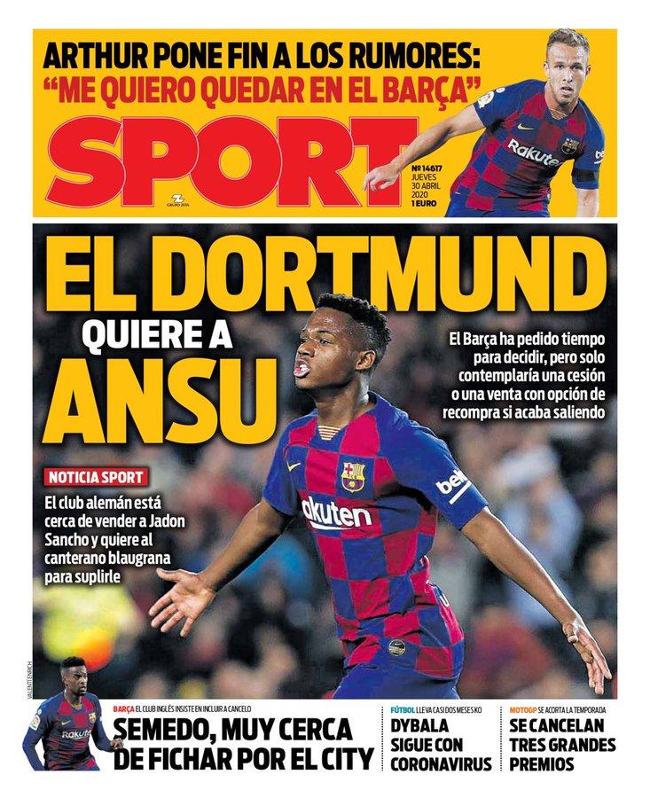 Dortmund want Ansu
