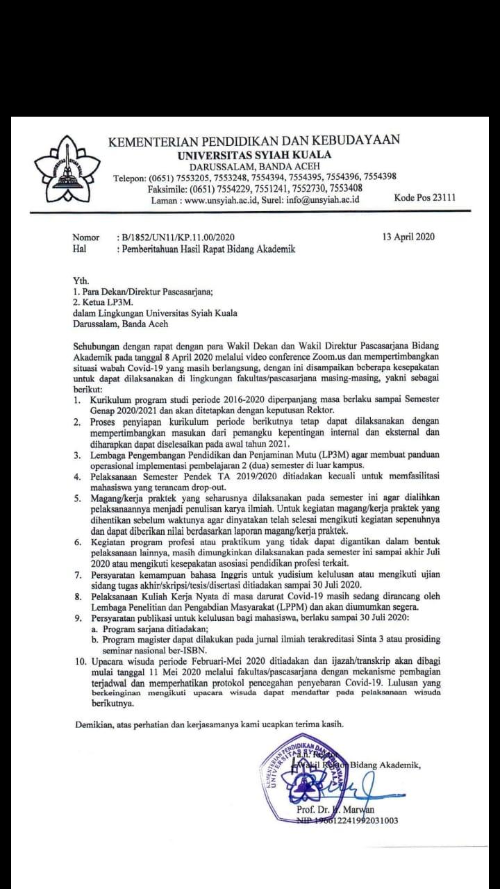 Universitas Syiah Kuala On Twitter 13 April Sudah Ada Edarannya Ya Https T Co Zzzaua3ml1