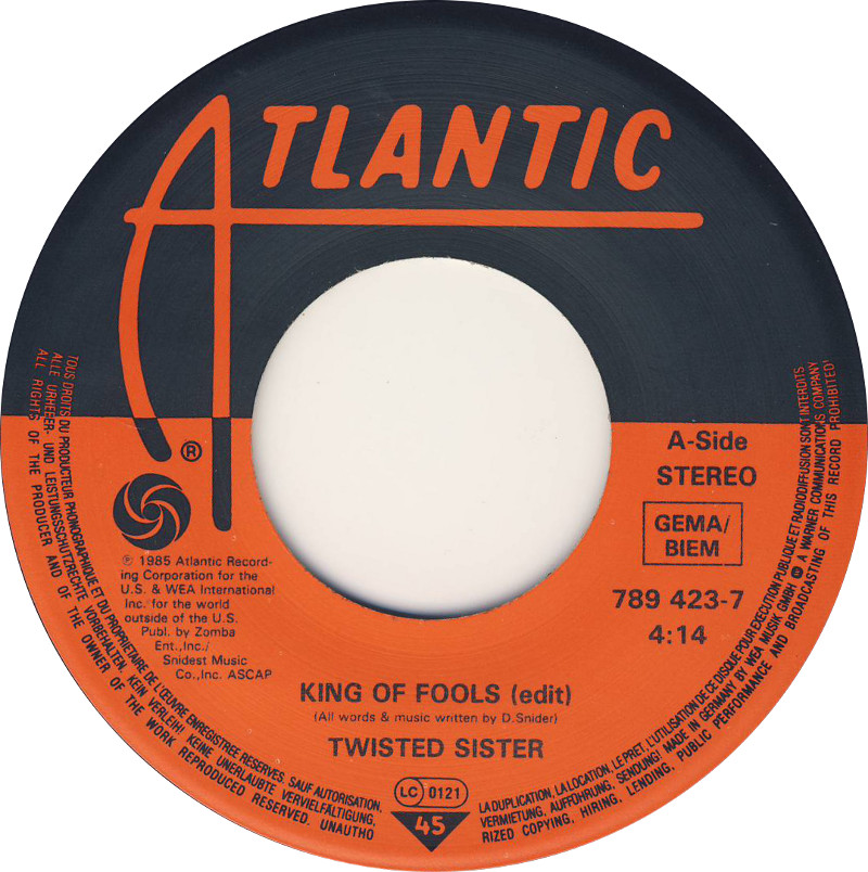 Saw #TrumpsTheKingOf trending reminded me of this song by Twisted Sister..King Of the Fools. That is him. King Of The Fools.