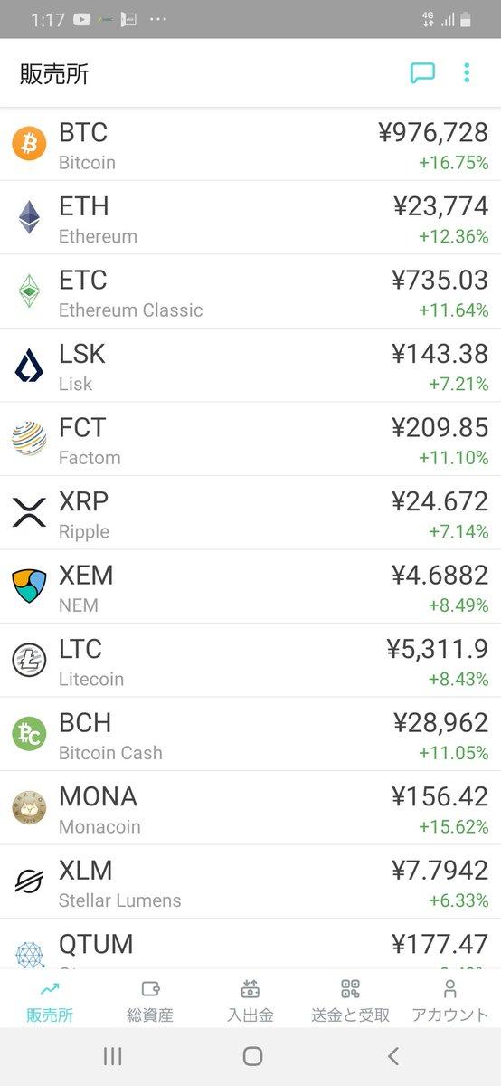 仮想通貨も爆上げ📈株もいいですけどみなさんビットコインとかどうですか😏XRPお前はもっと上がれや😡😡😡