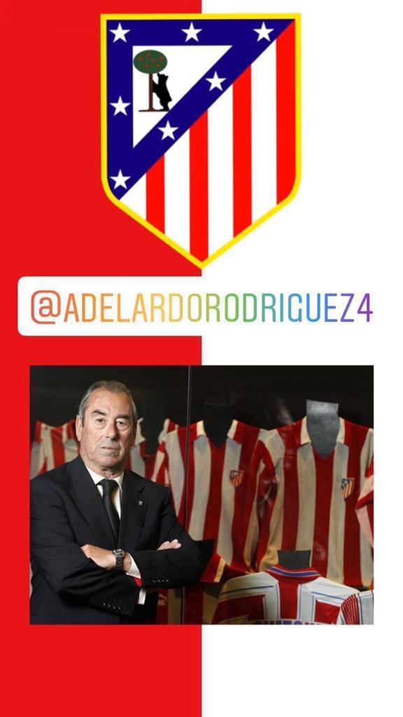 Bienvenido nuestro eterno capitán, Adelardo Rodríguez, que se pasea también por las redes sociales. Un lujo escuchar el pensamiento de este gran atlético 🔴⚪ instagram.com/adelardorodrig…