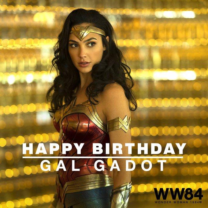 Happy Birthday to our  Princess of Themyscira Princess Woman Gadot!!