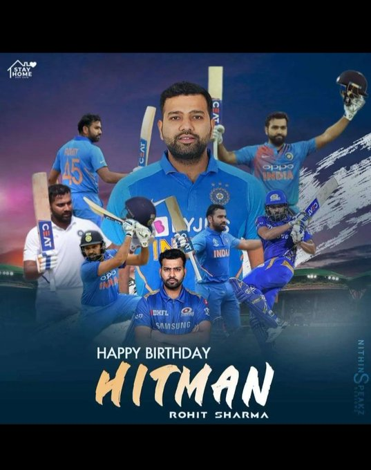 happy birthday you sir god bless you Hitman Rohit Sharma