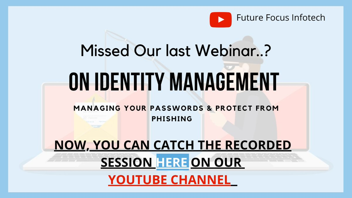 test Twitter Media - In case you have missed our last webinar session on Identity Management and saving your data from cyber-attacks, You can watch our webinar recordings on our FFI Youtube channel. #cyber #session #ransomware  https://t.co/HUm2JSg4NE https://t.co/57o1ISU7ly