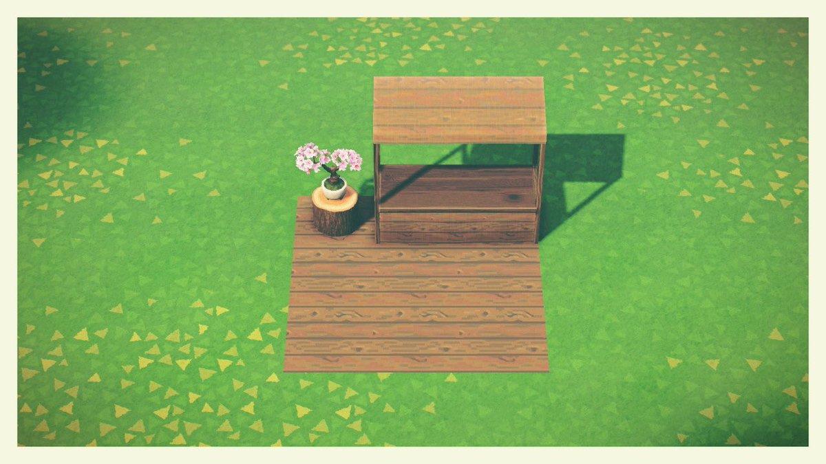 木目って感じの木の板欲しかったから描いたダークウッド系とか丸太系の色と合わせやすいと思う🤔#どうぶつの森 #ACNH #あつ森 #マイデザイン #マイデザ配布