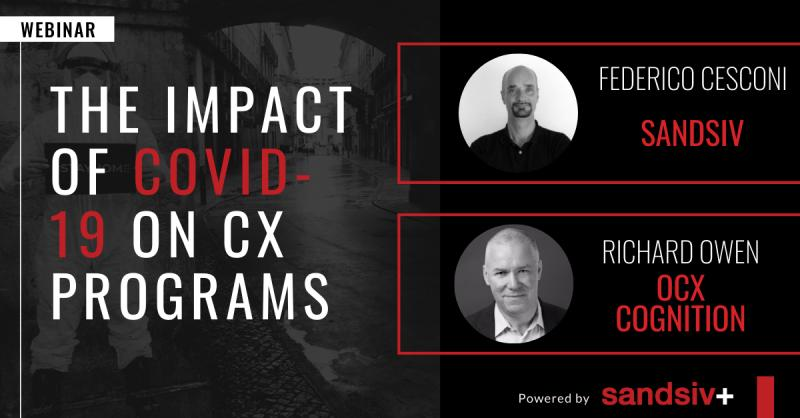770+ #CX practitioners responded to our survey on the impact of #COVID19 on #VoCprograms. Now it's time to show you the insights! Join our webinar on Thursday, May 7 - 4:30pm CEST | 7:30am GMT-7 https://t.co/RuQtR66yk4.  #sandsiv #innovation #customerexperience #OCX https://t.co/0FesRL1jHm