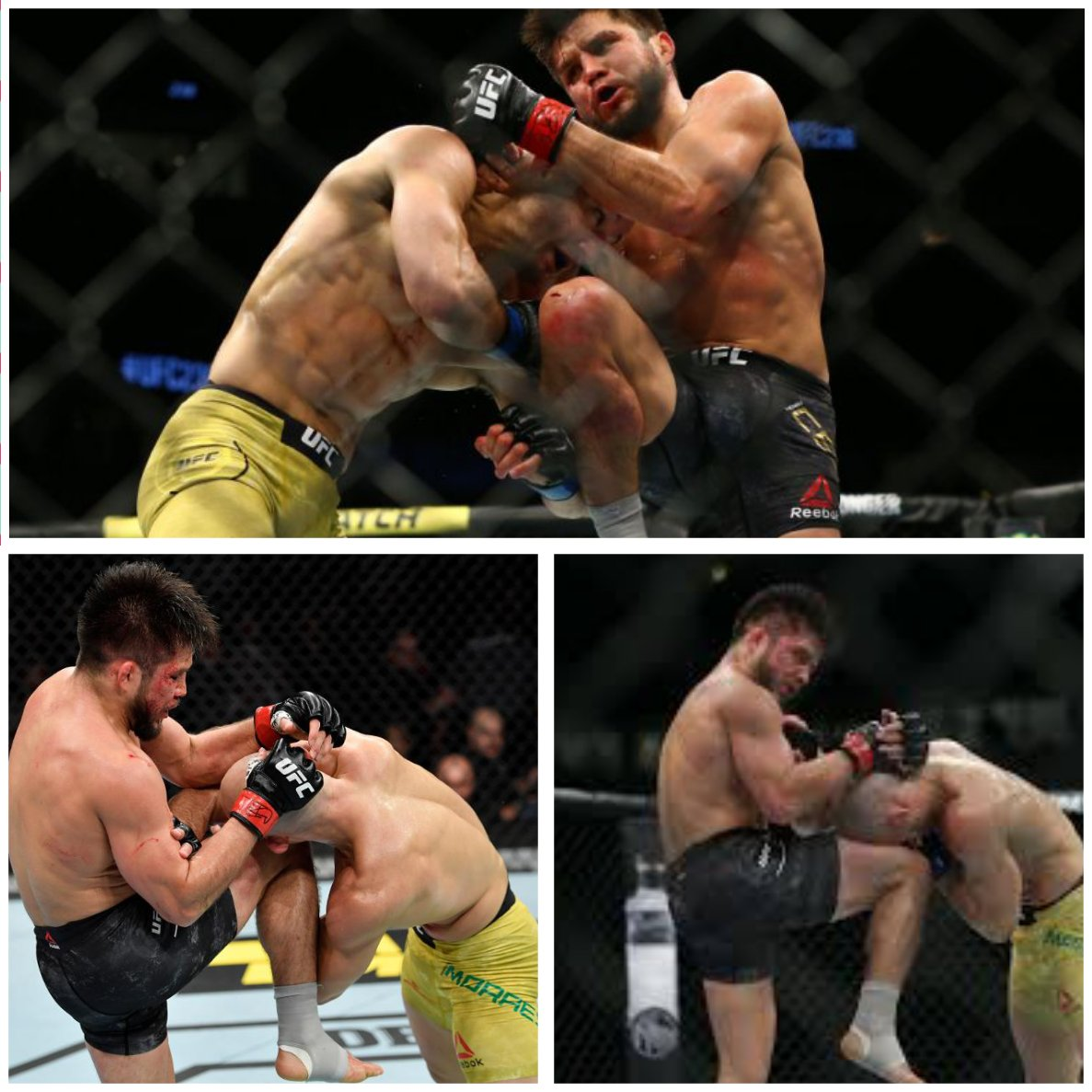 I think Cruz is fast enough to avoid getting wrapped up with Cejudo but if not, he might get hurt with Henry's nasty Thai clinch. How Henry is able to get his knees so damn high for being so short is incredible. Cruz vs father time could be the headline. #cejudovsmoraes #UFC249 https://t.co/MomUXQPuhn