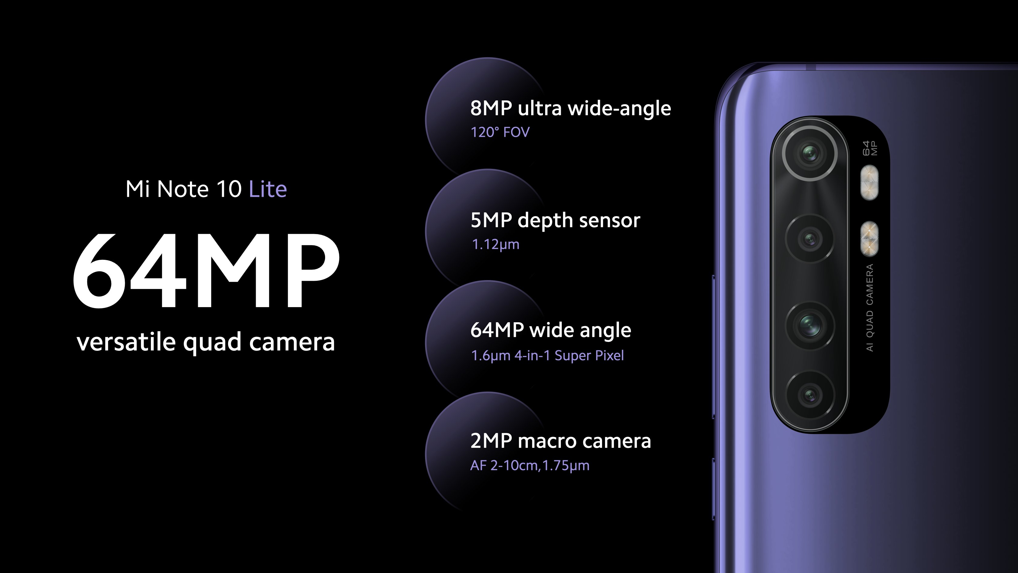 Camera Features of Mi Note 10 Lite