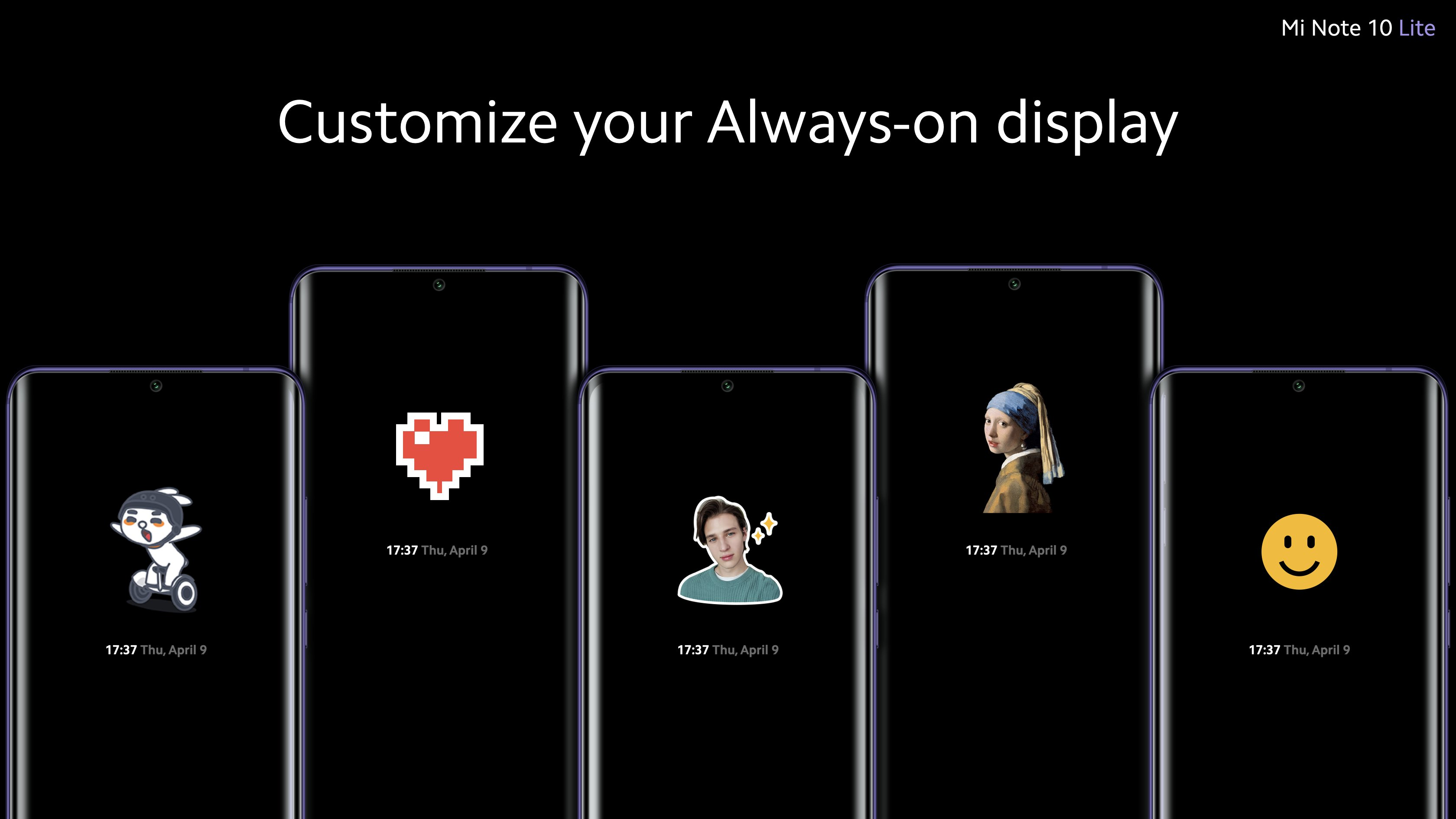 Customize your Always-on display on Mi Note 10 Lite
