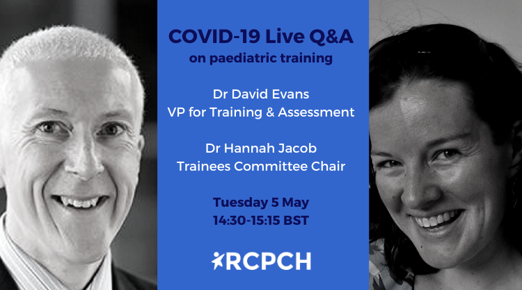 Members: Please join us for our next COVID-19 Live Q&A on paediatric training. Hear how the the College is supporting trainees in the UK through the pandemic—and ask your questions. Next Tuesday 5 May at 14:30 BST. Log in for details: https://t.co/XkONIcuHBy #paediatrics https://t.co/ELQbzUieJE