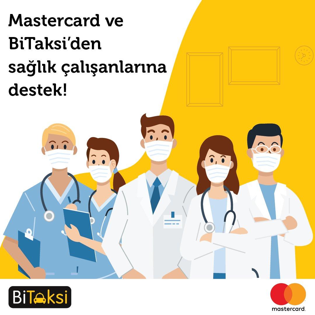 Sağlık çalışanları için @Mastercard_TR ile yola çıktık! @TC_istanbul Valiliği destekleri, İl Sağlık Müdürlüğü @ismgovtr yönlendirmesiyle 30 hastanenin sağlık çalışanları 4 Mayıs Pazartesi itibarıyla ev-hastane arası ulaşımlarını Mastercard&BiTaksi iş birliğiyle ücretsiz yapıyor. https://t.co/rjp40sO35b