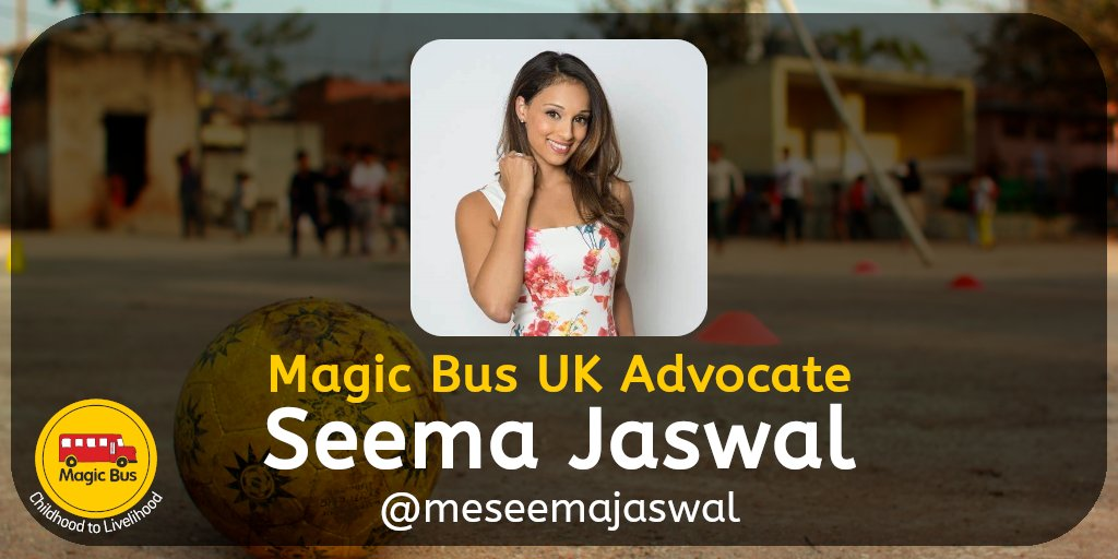 @meseemajaswal has regularly graced our screens providing the latest coverage from the Premier League, FIFA World Cup, Snooker, Motorsport & Rowing. Now, as a Magic Bus UK #Advocate, she's helping empower girls & young women living in poverty in South Asia. Thank you, Seema!