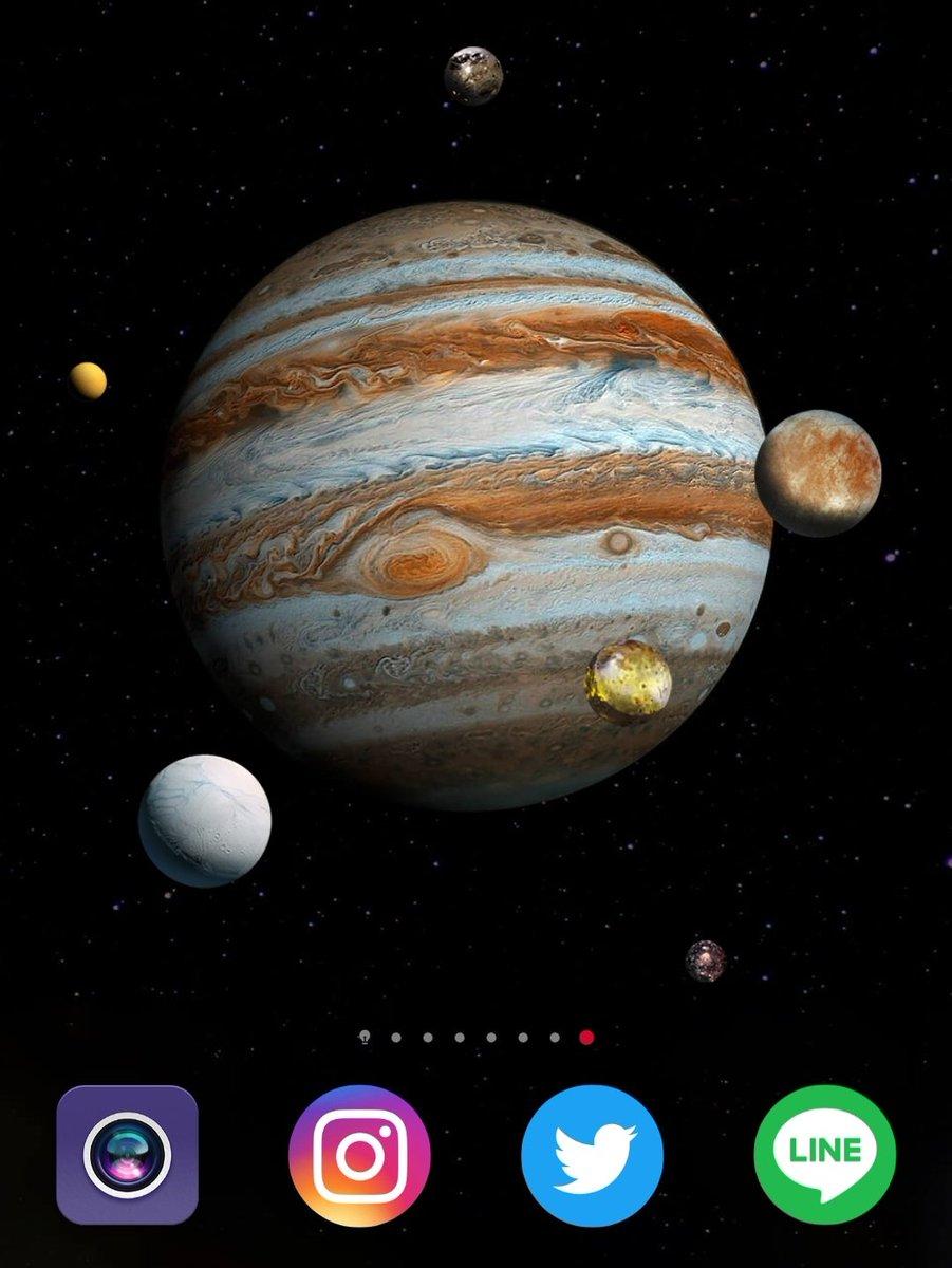 高専生youtuber Let S Have A Break على تويتر この壁紙 全部木星の衛星みたいに描かれていますが ガリレオ衛星こと イオ エウロパ ガニメデ カリスト 以外の左の2つは土星の衛星 タイタンと エンケラドゥス なんですよね 見る人が見れば分かるんダゾ