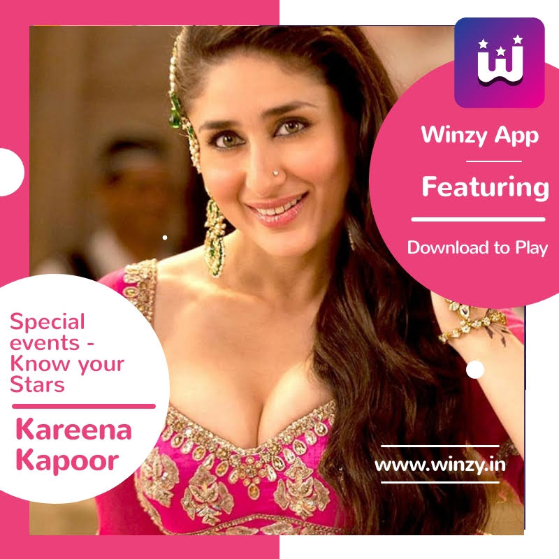 Bollywood Quizzes now live on Winzy! Featuring one of our all-time favorites Kareena Kapoor #KareenaKapoorKhan  #winzy #PlayToWin #androidgames #kareenakapoor #kareenakapoorfans #bebo #kareenakapoorkhan #teamkareena #PUMAxKareena #jabwemet #kareenakapoorstyle #agentvinodpic.twitter.com/CGK8M5xQim