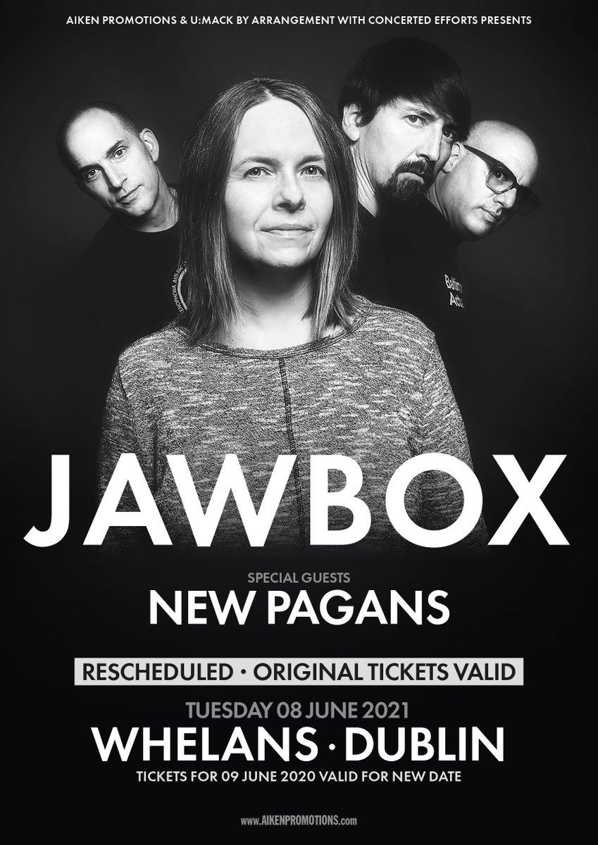 New date for @jawboxofficial in Dublin! June 8 2021 @whelanslive