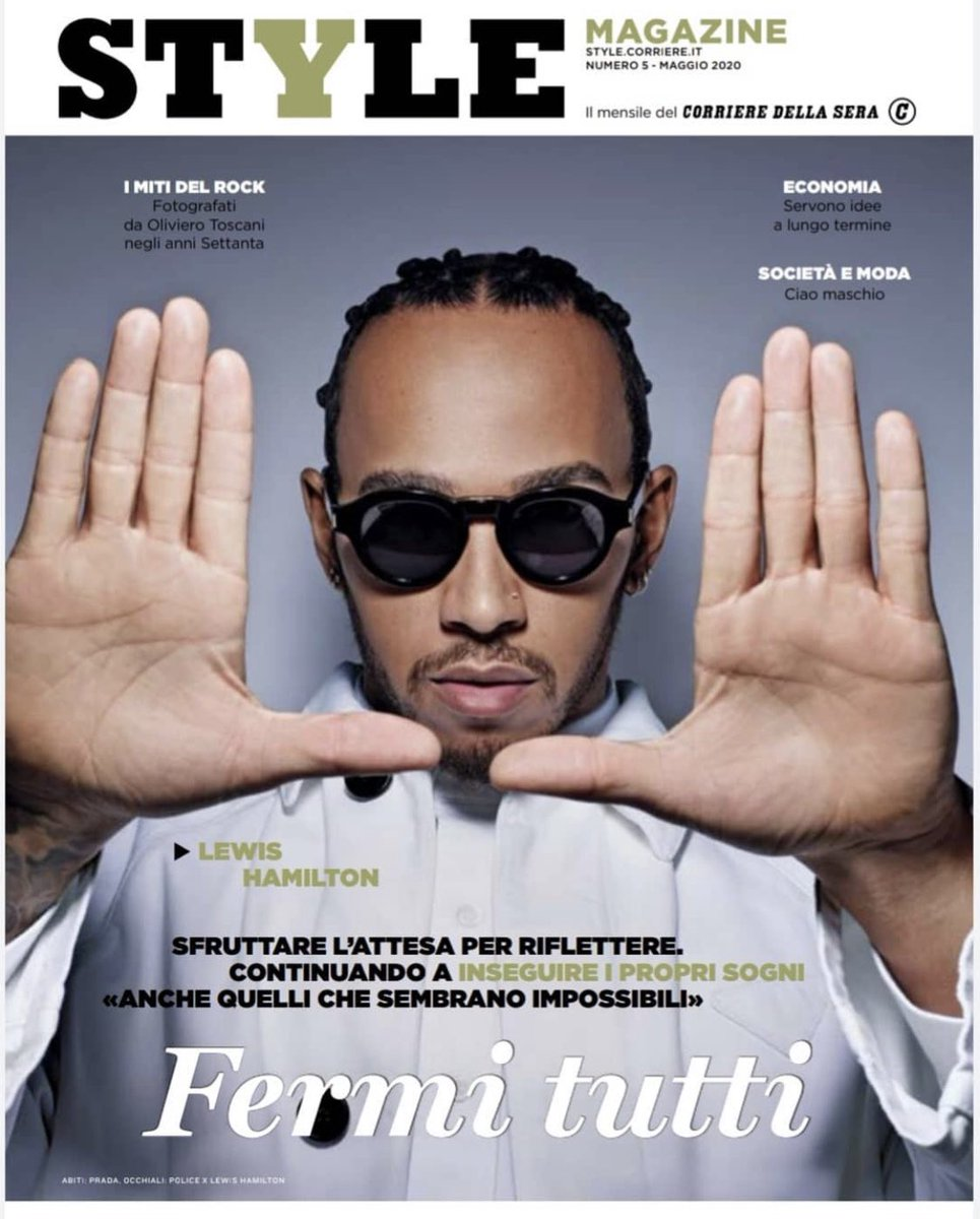 Fun catching up with @StyleMagazineIt 👓 Sending you all love and positivity in these difficult times #TeamLH. @PoliceLifestyle  👉🏾https://t.co/qjCQu7uBKp https://t.co/UYfGXB4omT