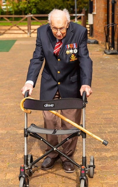 Happy 100th Birthday Captain Tom Moore! You are an absolute legend and inspiration to our country. 🇬🇧 #CaptainTom100  #StayHomeSaveLives https://t.co/BC0fCMbrDx