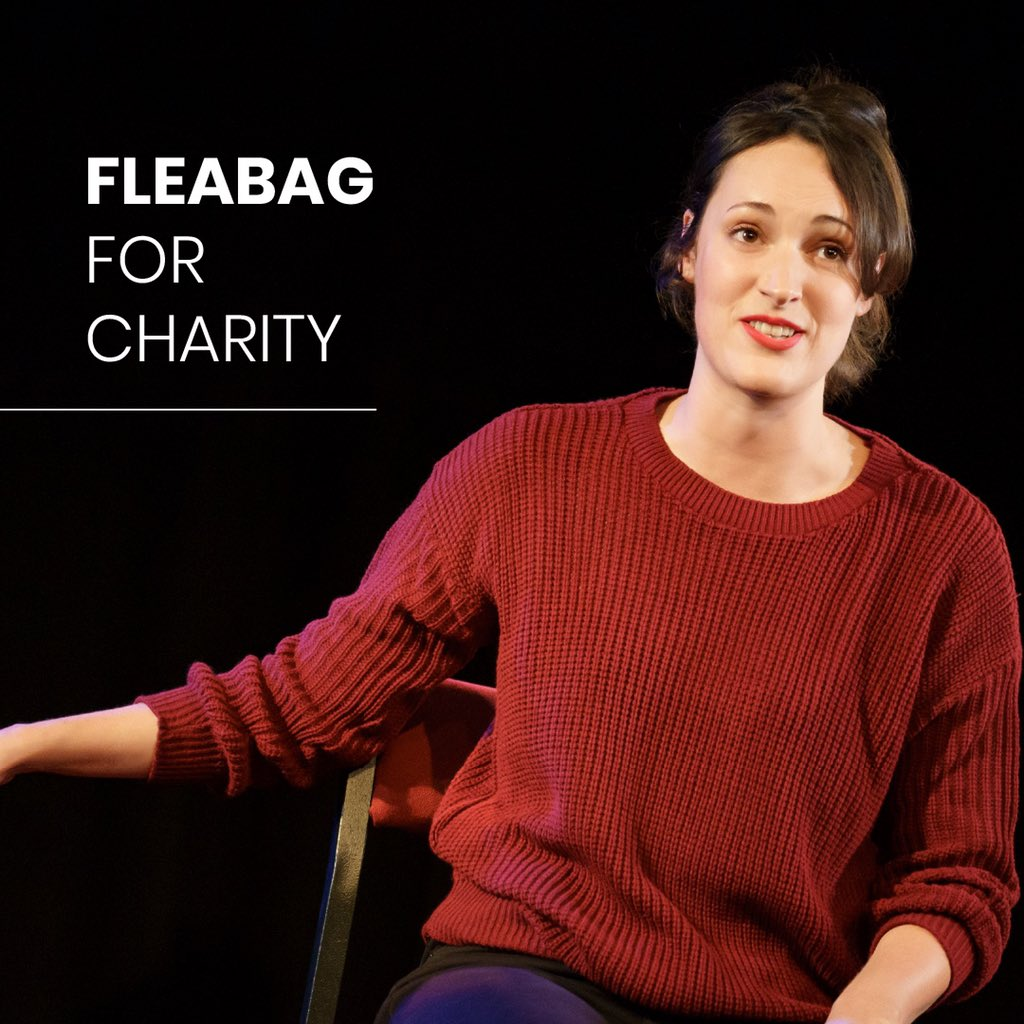 The incredible Phoebe Waller-Bridge and #FleabagForCharity are streaming  for just £4. Also on Amazon Prime for @National_Emergencies_Trust_, @NHSCharitiesTogether,@ActingforOthers and @BCEFA Or donate . #PeopleAreAllWeGot