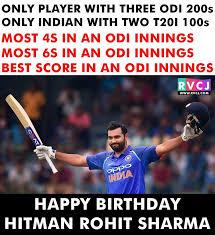 *Happy Birthday* *Many Many Happy Returns Of The Day*  *Rohit Sharma* *Hitman*