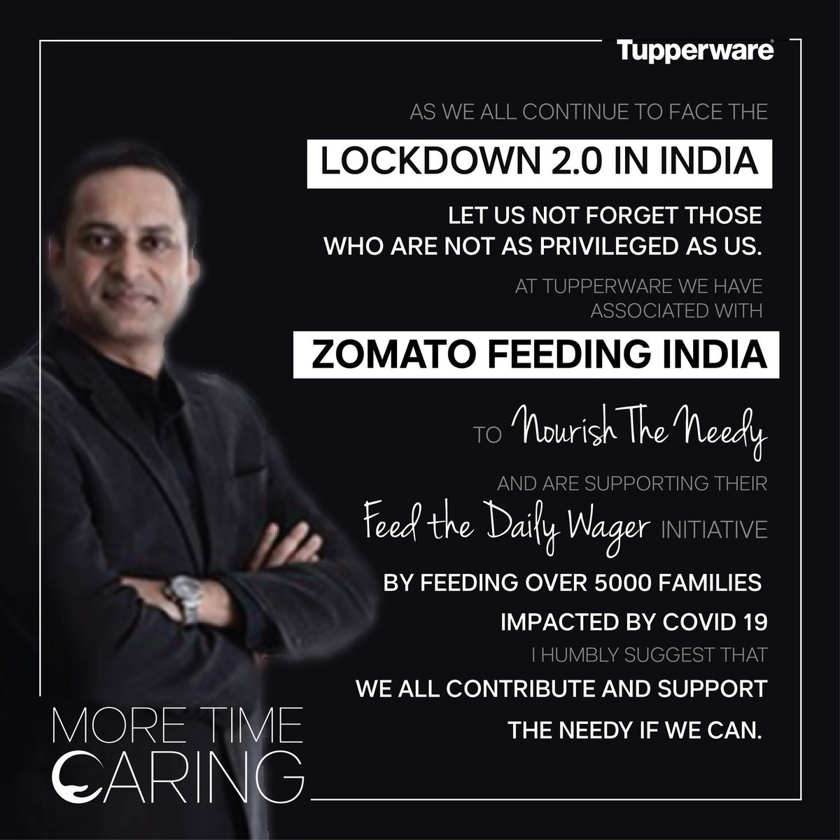 As the #lockdown continues, a message from our Managing Director, letting you know that Tupperware is with you and together we shall conquer this. #StayHome #StaySafe #MoreTimeCaring (2/2) https://t.co/8qw6N1abug