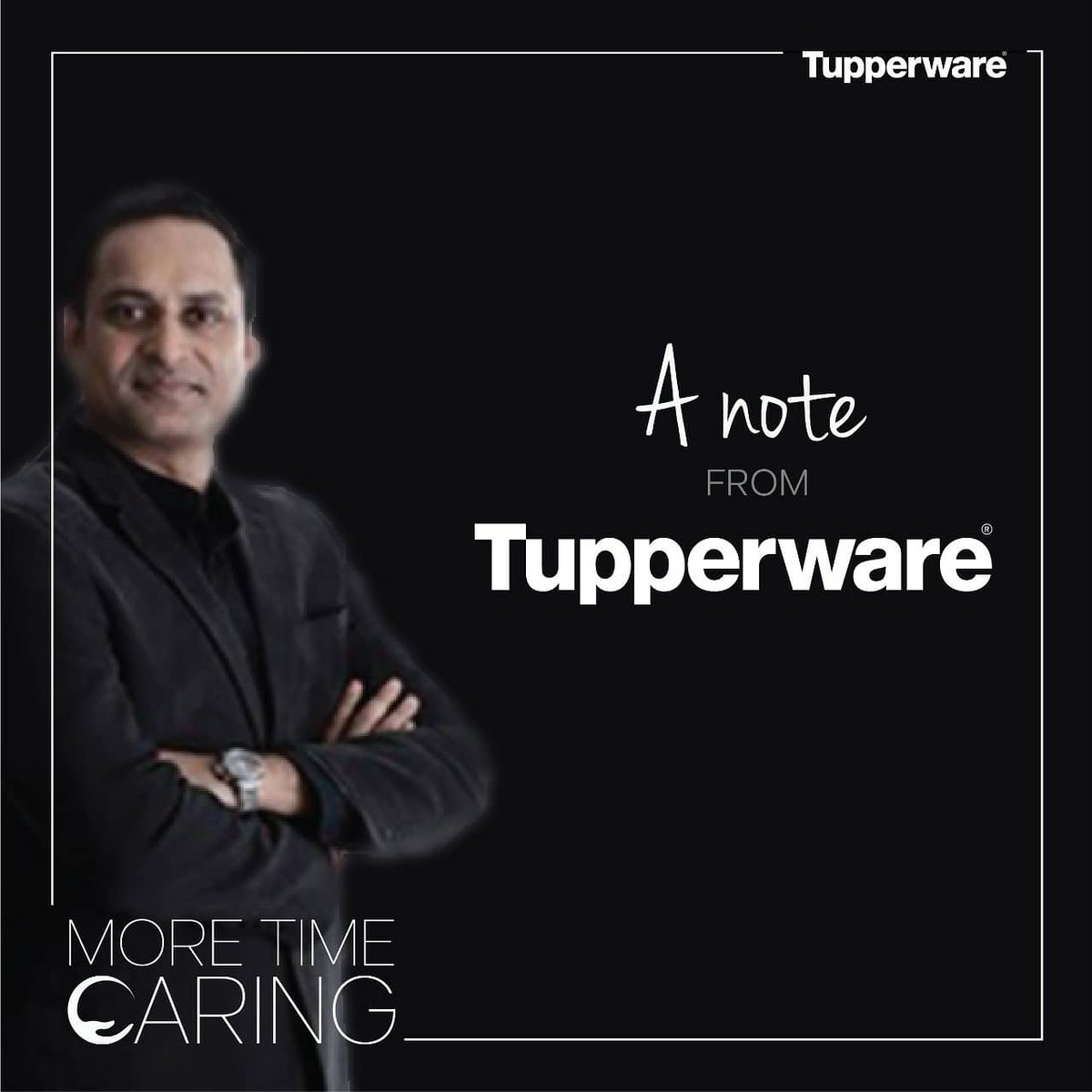 As the #lockdown continues, a message from our Managing Director, letting you know that Tupperware is with you and together we shall conquer this. #StayHome #StaySafe #MoreTimeCaring (1/2) https://t.co/js9YKoueI6