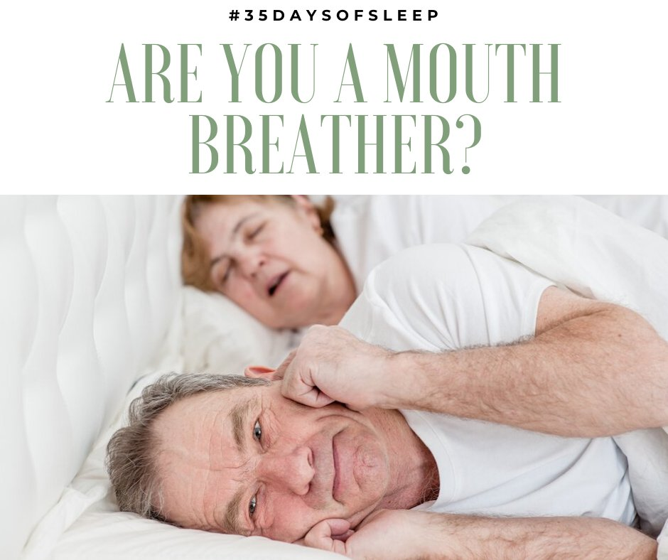 Day 35 - #35DaysOfSleep  ARE YOU A MOUTH BREATHER? Breathing through the nose is a struggle, for many chronic mouth breathers. Here are 6 tips to help you improve your nose breathing: https://t.co/nr7K1FULfn #SleepRenewal #SleepClinic #sleep #nosebreathers #LockdownSA https://t.co/DejSdVxjPI
