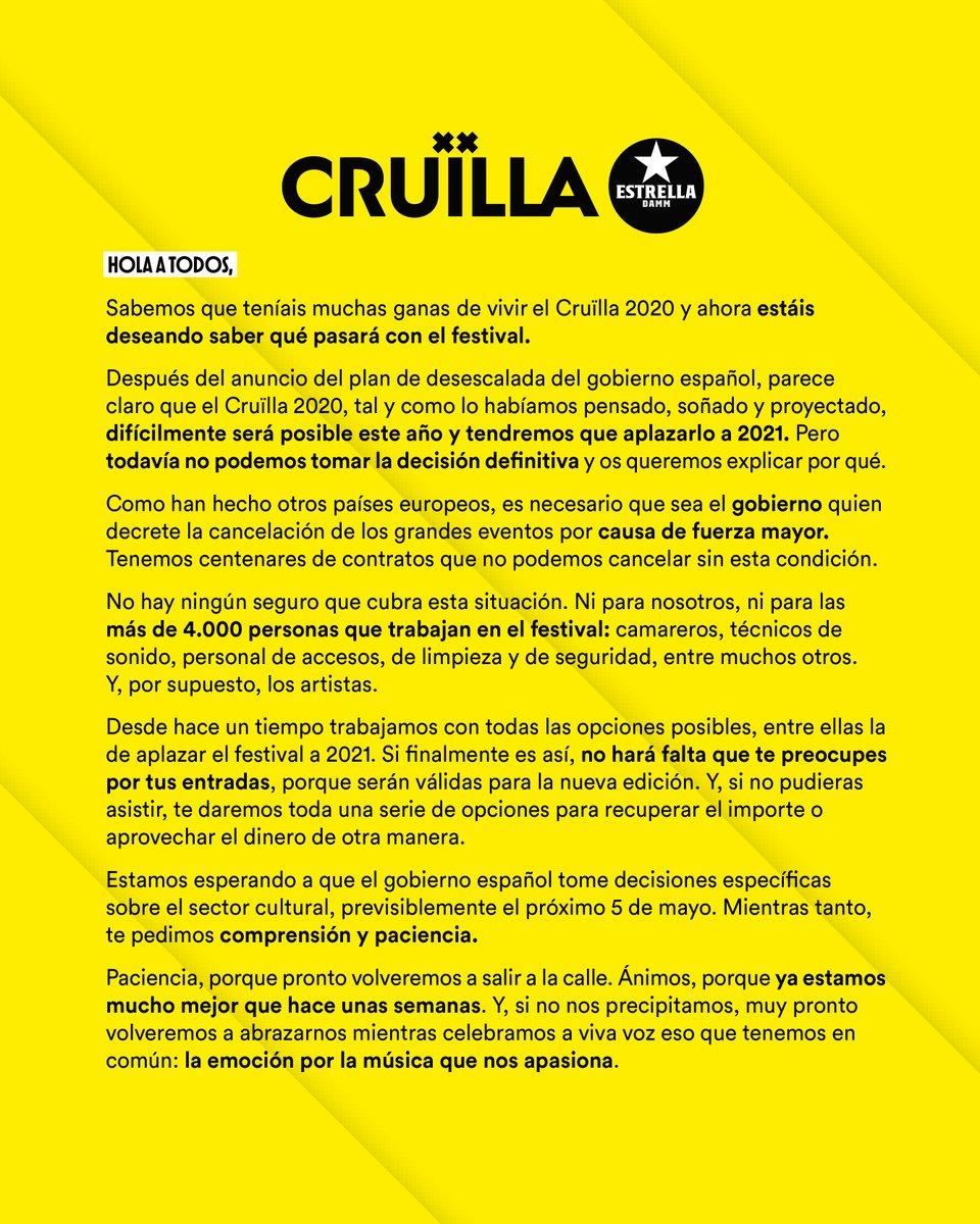 Cruilla Festival 2020 - Página 15 EW2yp8cXsAAy_Wy