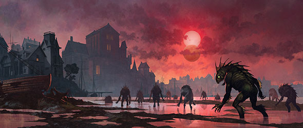 The deep ones are rising! Read our announcement of The Innsmouth Conspiracy, the sixth deluxe expansion and the beginning of a new campaign for Arkham Horror: The Card Game. #ArkhamHorror #LCG  https://t.co/OxMi8Y1eJD https://t.co/zcXdzeGdHX