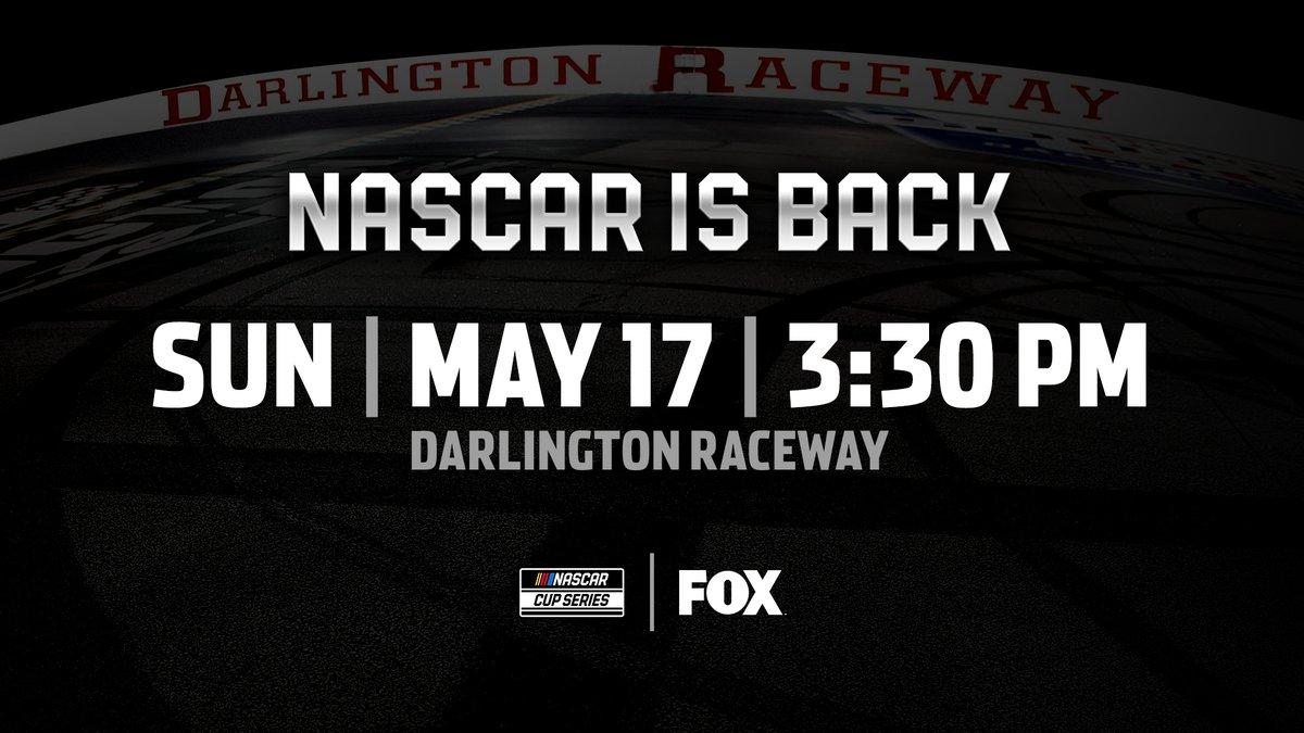 NEWS: NASCAR Cup Series racing returns on May 17 at @TooToughToTame. Details: nas.cr/2SnRsoH