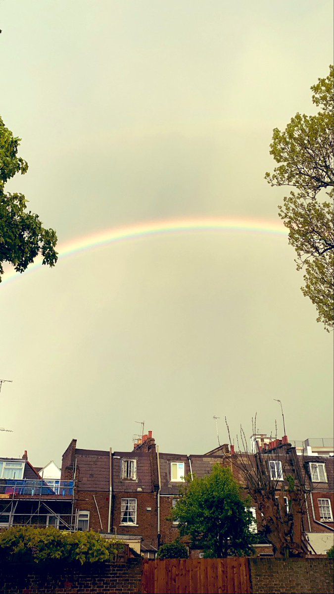 Double rainbow this evening just before we clap for our hero's. Unbelievable 🌈