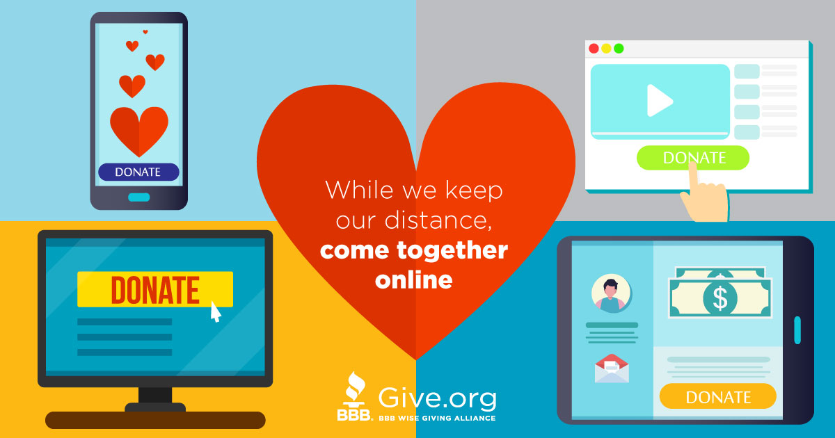 Together We Give. Join us at Give.org and find charities going the distance.